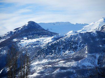 Sarnano è una località sciistica sui Monti Sibillini